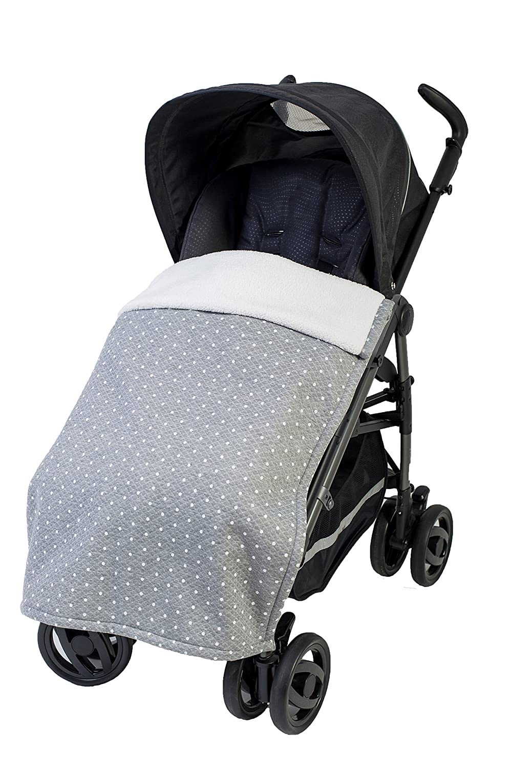AL2415KJ-76 Winddecke f/ür Kinderwagen und Buggy Downtown Kollektion hellgrau