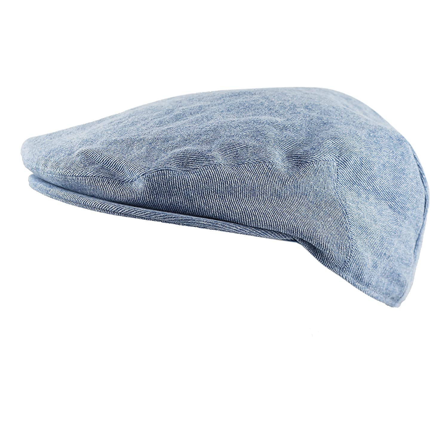 f9766d407f7 THE HAT DEPOT Washed Denim Cotton Newsboy Ivy Cap Style Hat at Amazon Men s  Clothing store