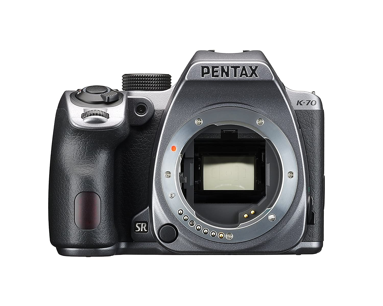 Pentax K-70 Weather-Sealed DSLR Camera, Body Only (Silver)
