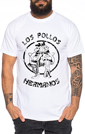 Used Look Los Pollos Heisenberg Camiseta de Hombre Hermanos Bad Mr White Breaking: Amazon.es: Ropa y accesorios