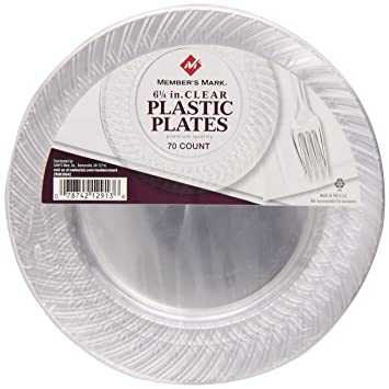 Memberu0027s mark Clear Plates 6 1/4u0026quot; ...  sc 1 st  Amazon.com : clear plastic tableware - pezcame.com