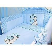 Baby beddengoed set, compleet 3-delige set dekbedovertrek, kussensloop en kinderbedje in 100% katoen met borduurwerk…