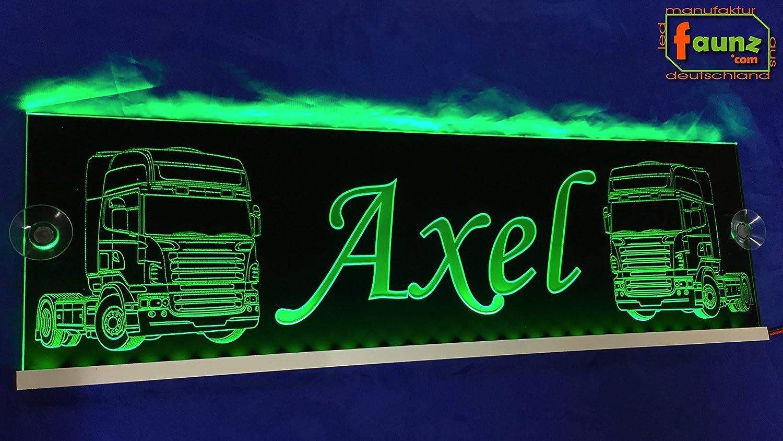 Axel verde LED Camiones Truck Cartel grande en Negro o su ...