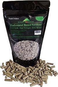 Professional Bonsai Fertilizer Pellets - Rich in Organic & Natural Ingredients - Slow Release Immediately fertilizes Then Over 1-2 Months - House Plants Cactus & Succulents (12 Ounce 12-4-5)
