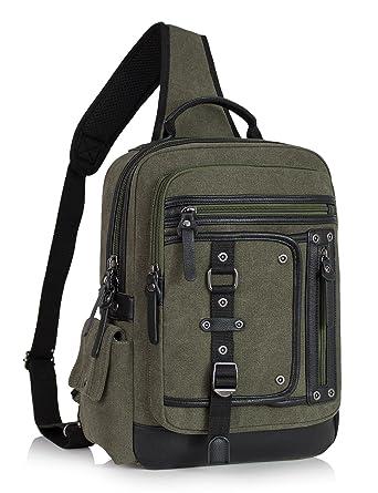 c174317445e9 Leaper Messenger Bag Sling Bag Outdoor Cross Body Bag Shoulder Bag Army  Green