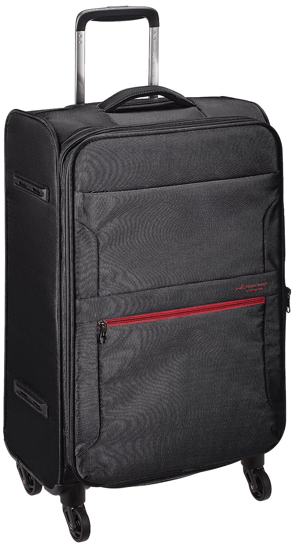 [ヒデオワカマツ] スーツケース フライエア M 超軽量ソフトキャリー 拡張時54L 48.5L 65.5cm 2.6kg 85-95850  ブラック B07CMR1ZD4