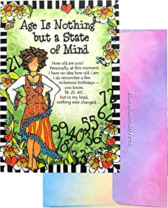 """Blue Mountain Arts Greeting Card """"Age is Nothing but a State of Mind"""" Is the Perfect Birthday Card for a One-of-a-Kind Woman, by Suzy Toronto (SZ516)"""