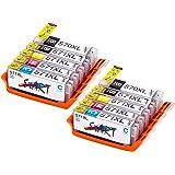 Start 10 XL Compatible CHIP Cartucce per Canon PGI-570 BK XL Nero, CLI-571BK XL Foto Nero, CLI-571C XL Ciano, CLI-571M XL Magenta, CLI-571Y XL Giallo