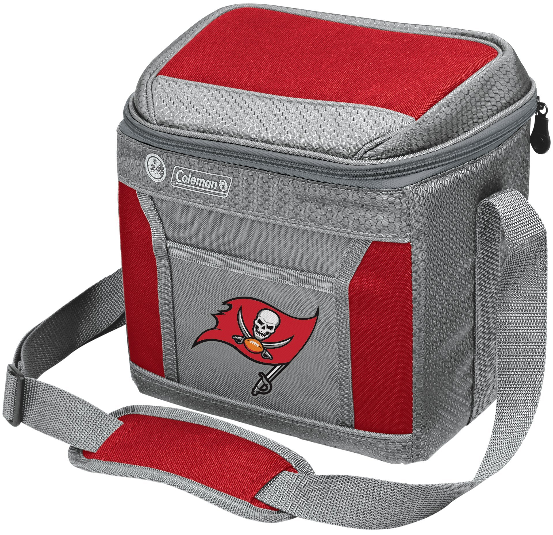 Coleman NFL Soft-Sided Insulated Cooler and Lunch Box Bag, 9-Can Capacity, Tampa Bay Buccaneers by Coleman
