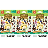 Animal Crossing Amiibo Cards 3 Pack Set of Series 1