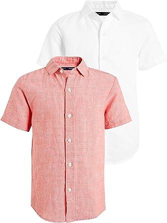 next Niños Pack De Dos Camisas De Mezcla De Lino (3-16 Años) Coral 12 años: Amazon.es: Ropa y accesorios