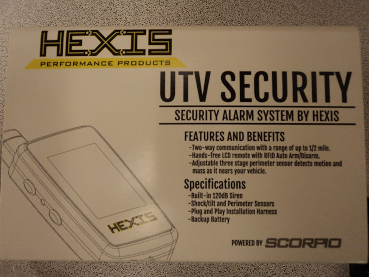 HEXIS RZR UTV SECURITY ALARM SYSTEM