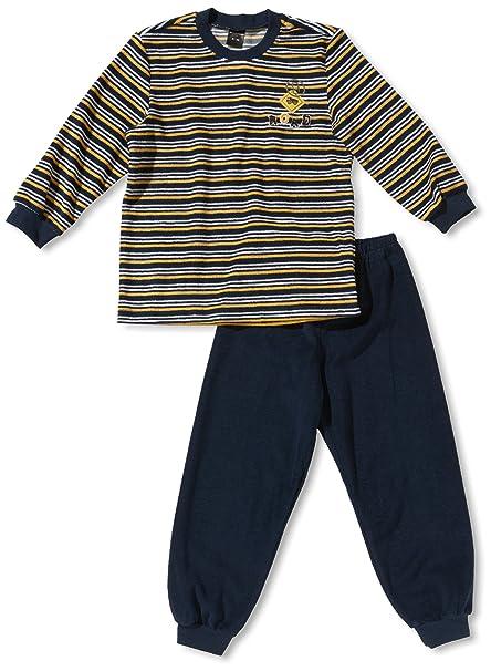 Schiesser Joven Pijama/Pijama Largo KN Pijama Largo Azul (803-Dunkelblau) 4