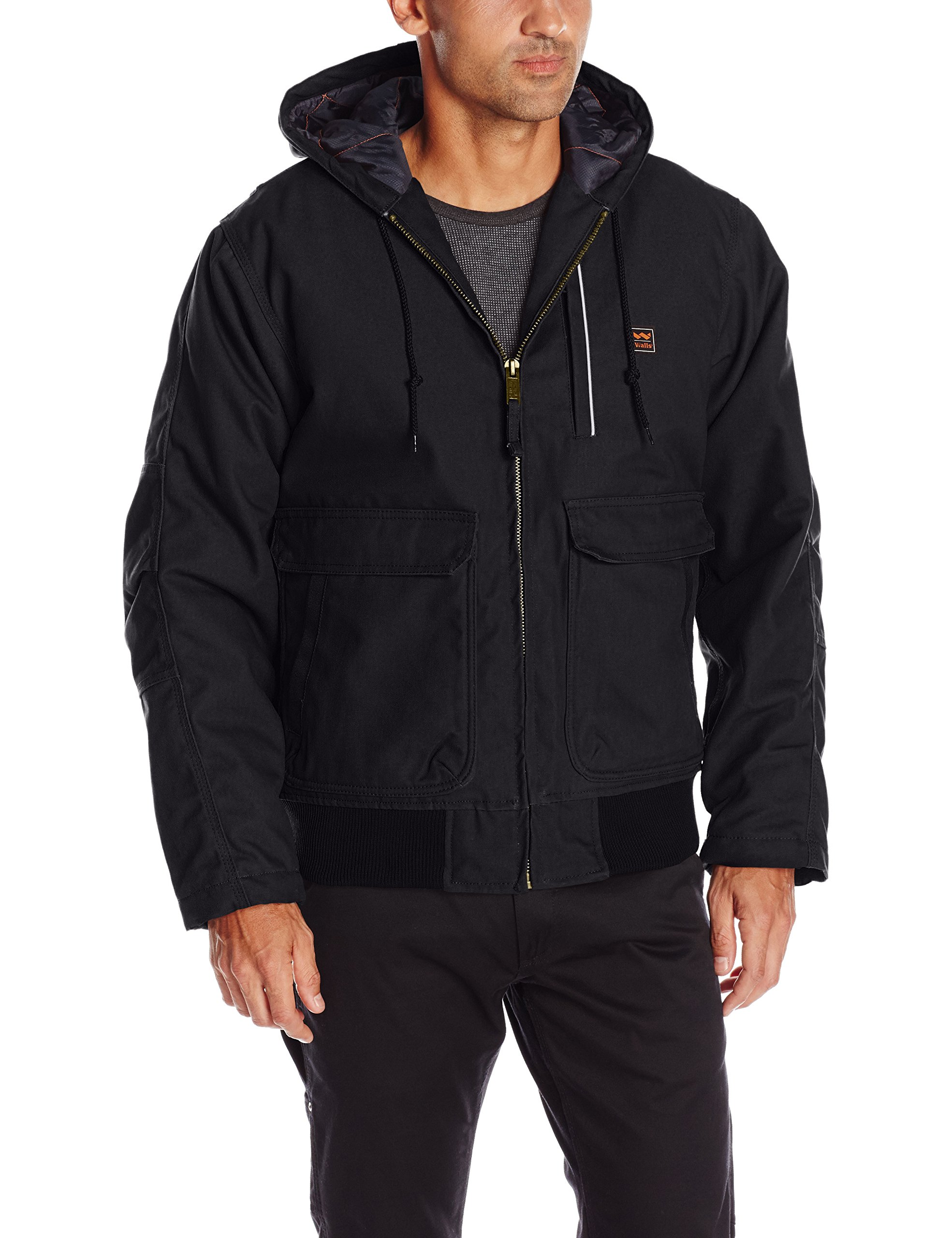 Walls Men's Lancaster Blizzard Pruf Hooded Jacket, Midnight Black, X-Large by Walls (Image #1)