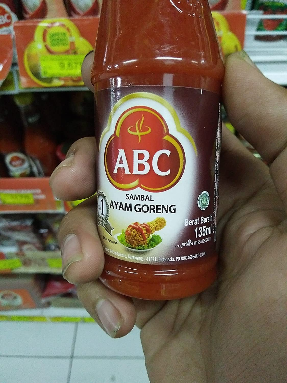 Abc Sambal Ayam Goreng Fried Chicken Sauce 135 Ml Pack Of 3 Cuk Travel Bawang Amazonco Uk Grocery