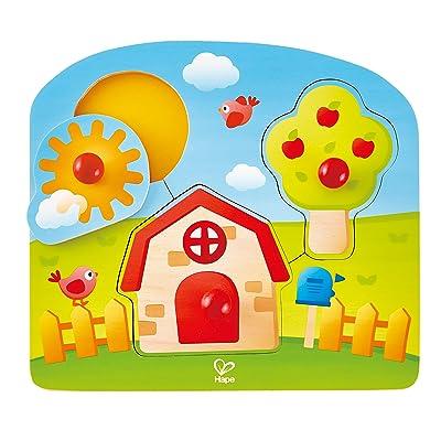 Hape International- Puzle Encajable Casa Campo, (E1311): Juguetes y juegos