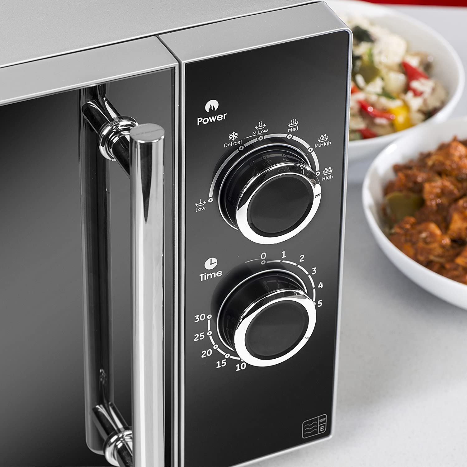 Tower T24003 Digital Combi Microwave with Grill, 1000 W, 23 Litre, Gloss Black