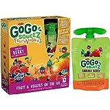 GoGo squeeZ Fruit & VeggieZ, Apple Carrot Mixed Berry , 48 Pouches (12 Boxes with 4 Pouches Each)