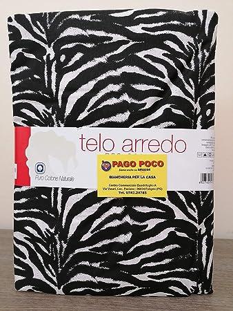 Tuttoperlacasashop Telo ARREDO Gran foular Telo COPRITUTTO zebrato 170X280