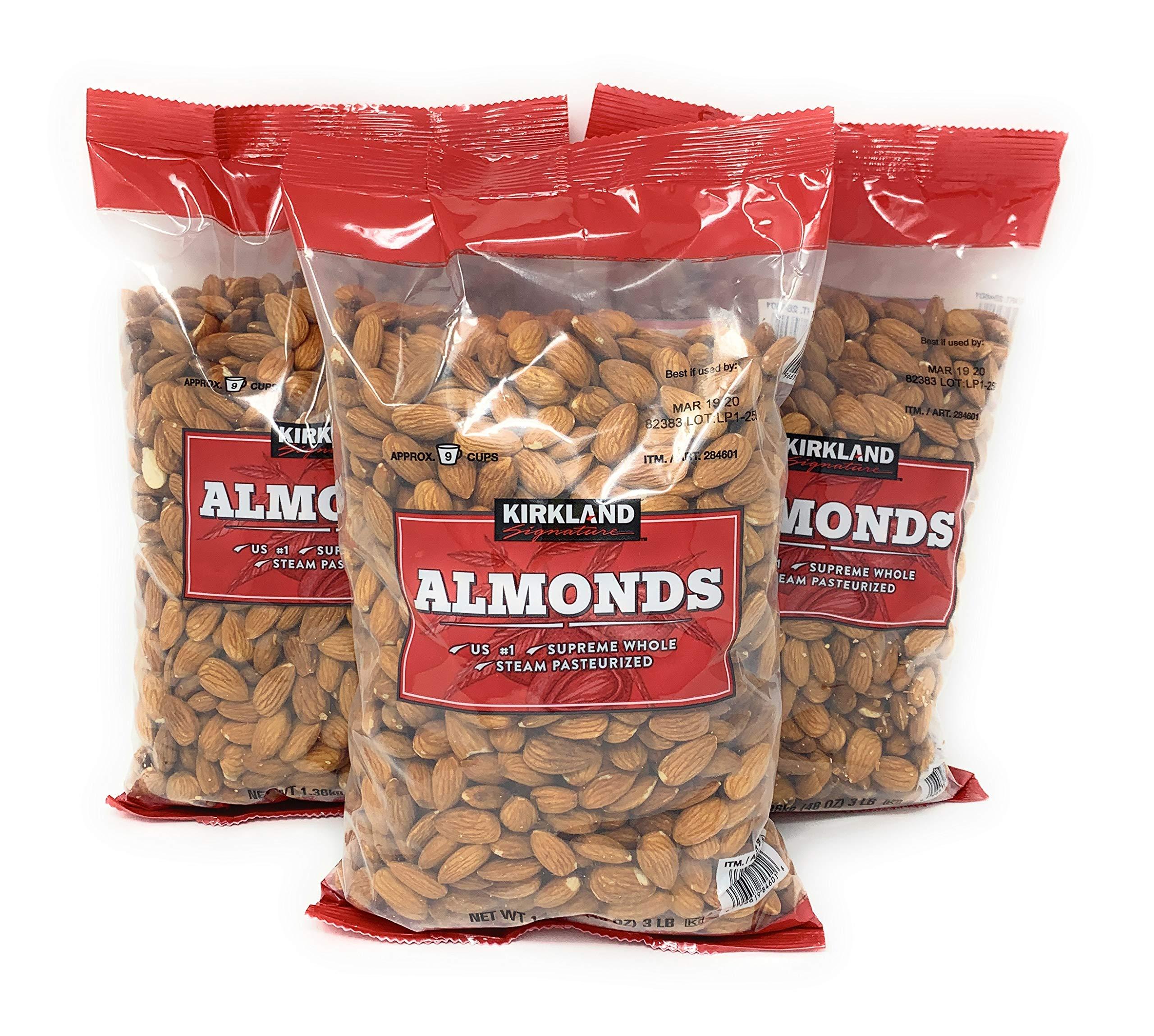 Kirkland Signature Supreme Whole Almonds, 3 Pack (3 Pounds)
