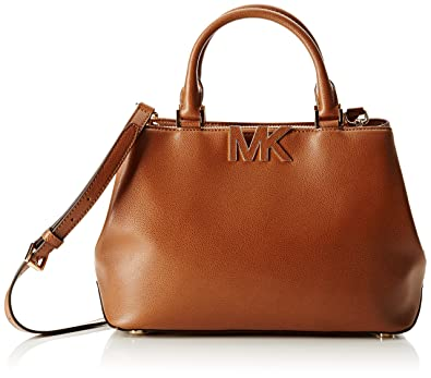 275e8c70c1f Image Unavailable. Image not available for. Color: Michael Kors Florence  Medium Convertible Triple Compartment Satchel - Brown Leather