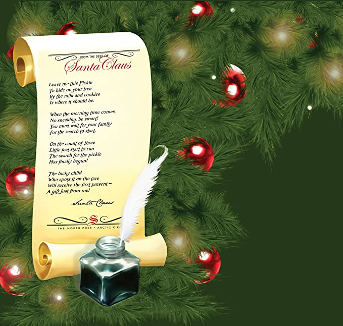 amazoncom the christmas pickle tradition hardcover box set tammy lee dwyer tom newsom eduardo paj toys games - Pickle On Christmas Tree