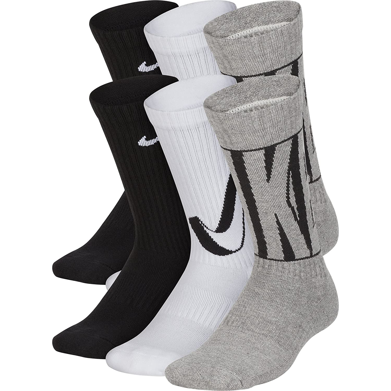 c400000fd69c5 NIKE Kids' Everyday Cushion Crew Socks (6 Pairs)
