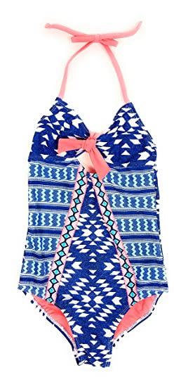 58f2091bf53 Justice Girls Bathing Suit One Piece Swimsuit Multi Style & Colors  (Geometric Tie Front 8
