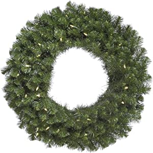 "Vickerman 60"" Douglas Fir Wreath with 200 Warm White LED Lights"