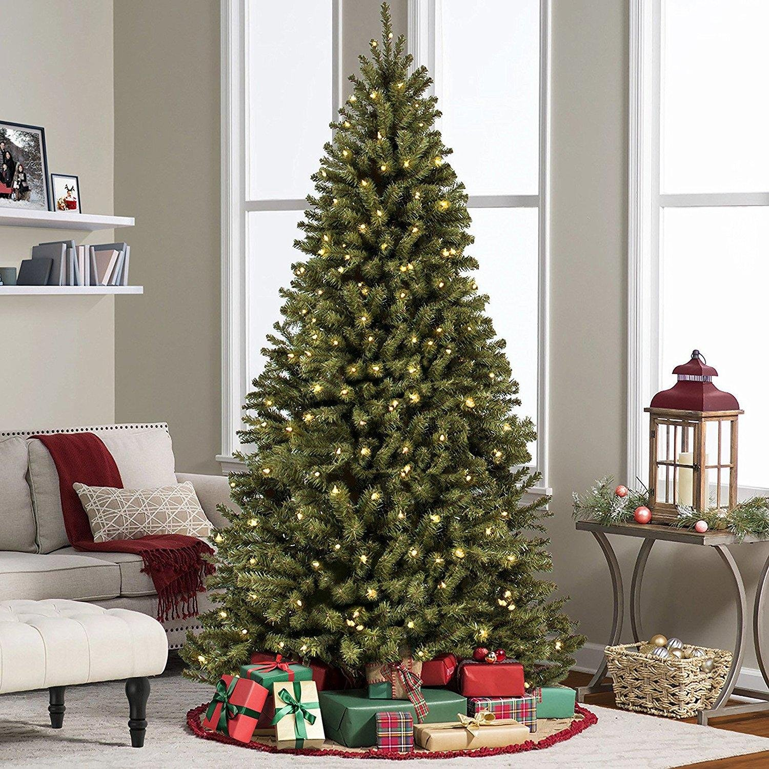 ACCELIFT 7.5' Ft Prelit Premium Spruce Hinged Artificial Christmas Tree W/ 550 Clear Lights And Stand by ACCELIFT (Image #4)