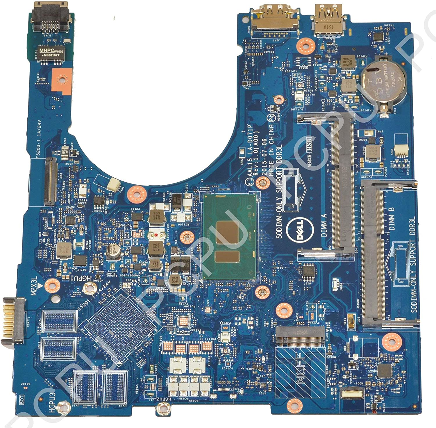 Dell Inspiron 15 5559 Laptop Motherboard w/Intel i3-6100U 2.3Ghz CPU