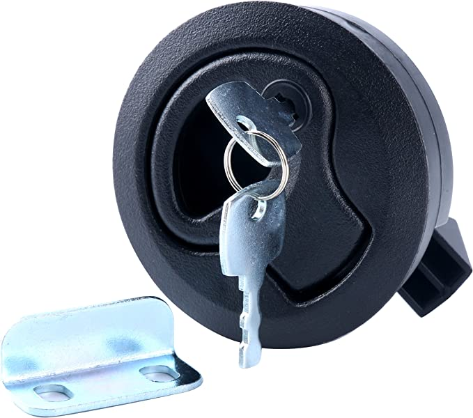 """Details about  /2/"""" Round Locking Flush Pull Latch Replacement Plastic For RV Marine Boat"""