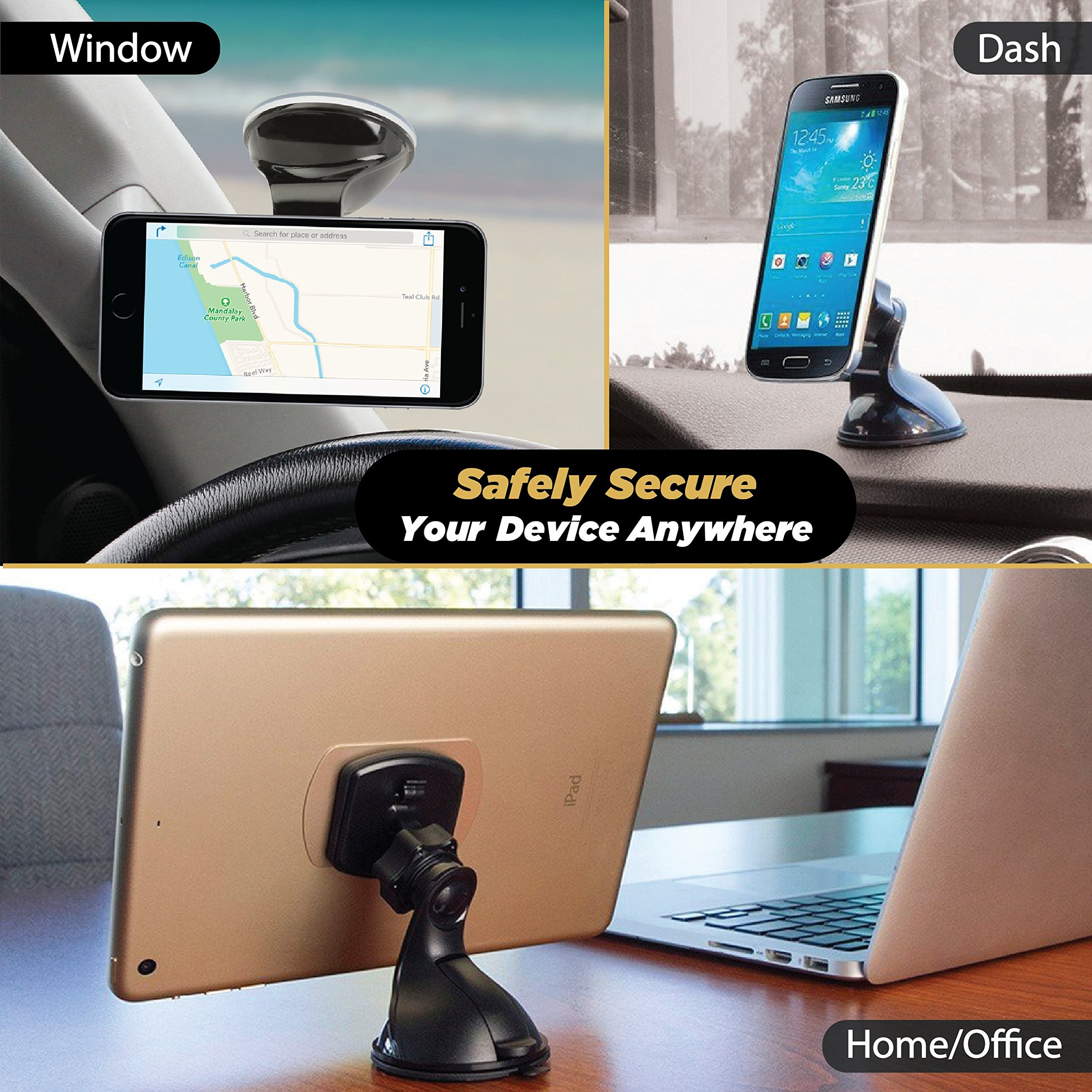 SCOSCHE MAGWSM2 MagicMount Universal Magnetic Phone/GPS Suction Cup Mount for the Car, Home or Office by Scosche (Image #4)