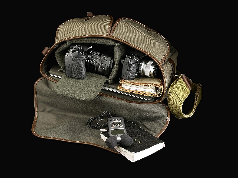 Billingham Hadley One Camera Laptop Bag Photo Black Canvas Tan Leather