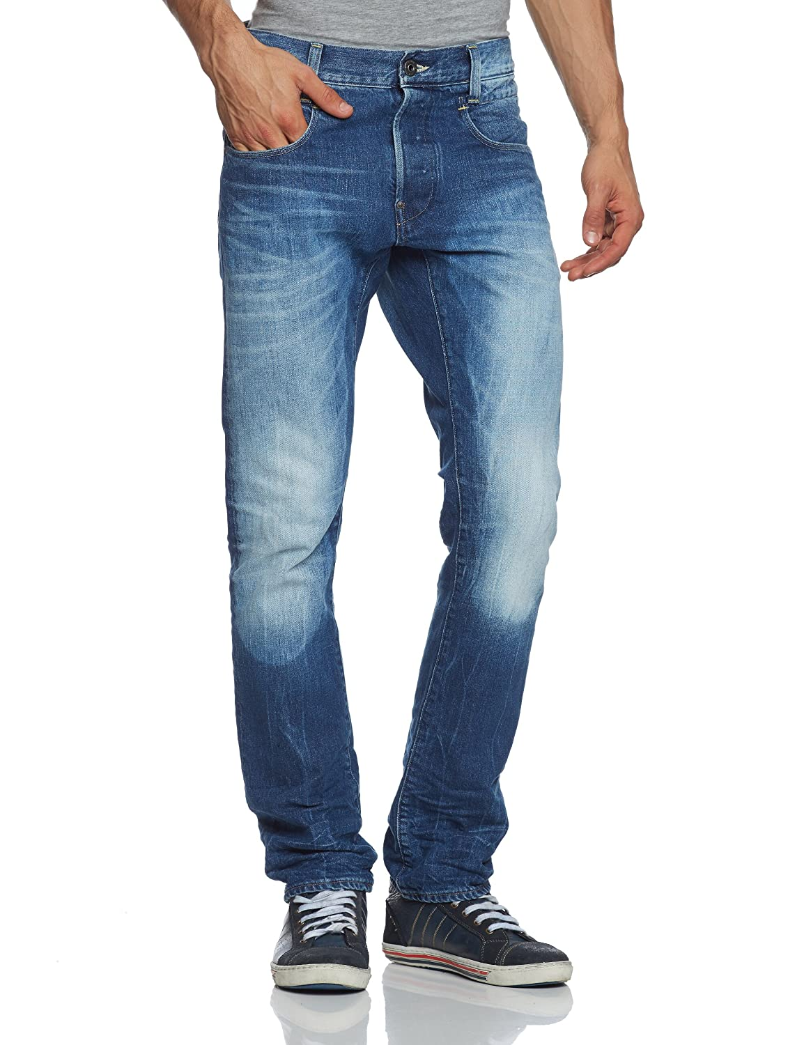 G-STAR Herren Jeans Normaler Bund New Radar Slim. - 50740.5203.071, Gr. 32/34, Blau (medium aged 071)