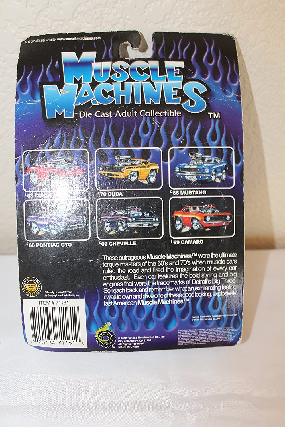 Amazon com muscle machines 00 pt cruiser without scoop stars n stripes toys games