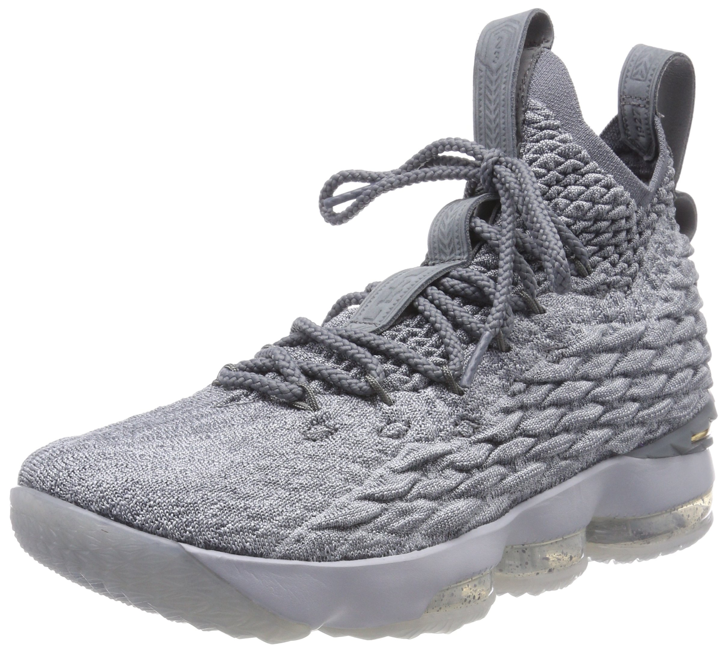 31186ad1b0af Galleon - Nike Mens Lebron 15 Basketball Shoes Wolf Grey Cool Grey Metallic  Gold 897648-005 Size 8