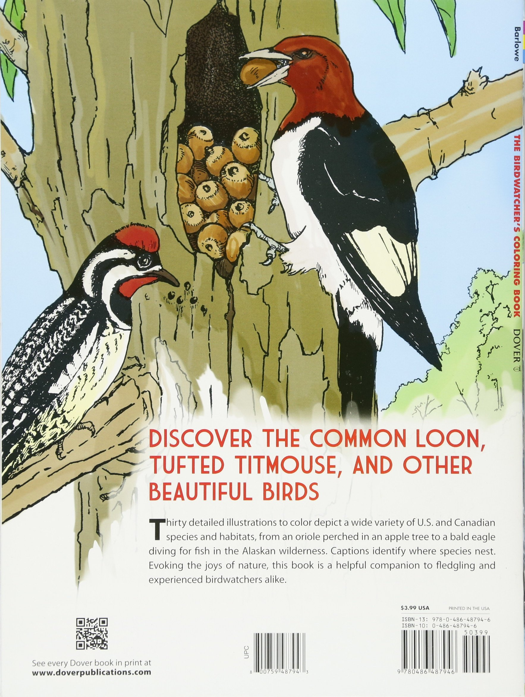 The Birdwatcher\'s Coloring Book (Dover Nature Coloring Book): Dot ...