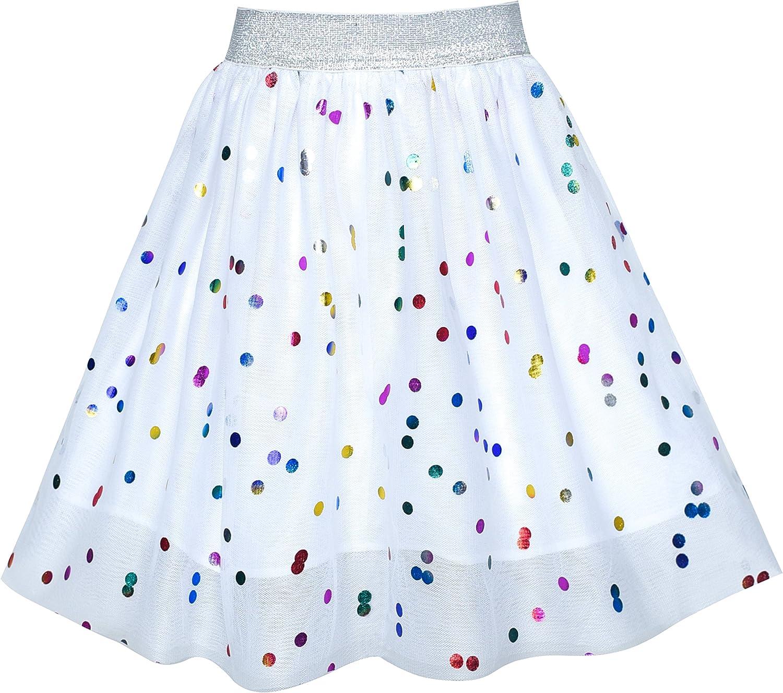 Sunny Fashion Ragazze Gonna Blu Cuore Paillettes Scintillante Tutu Danza 2-12 Anni