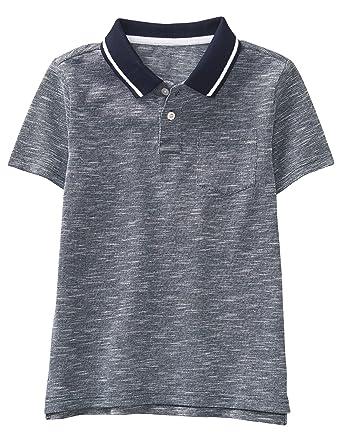 f7295b2b2 Gymboree Boys' Little Short Sleeve Polo Shirt, Heather Grey, ...