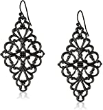 1928 Jewelry Filigree Diamond-Shape Drop Earrings