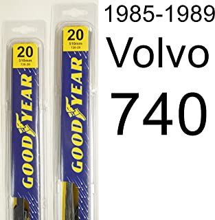 "product image for Volvo 740 (1985-1989) Wiper Blade Kit - Set Includes 20"" (Driver Side), 20"" (Passenger Side) (2 Blades Total)"