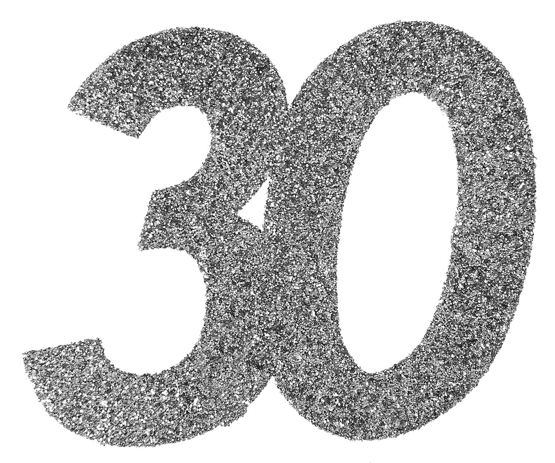 Cama24com Xxl Konfetti Tischdeko Zahl 30 Geburtstag Silber Glitzer 6