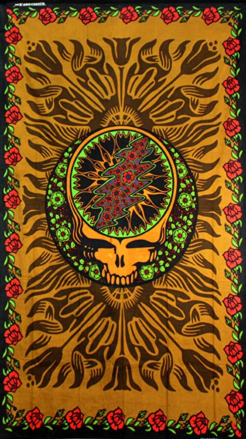 Amazon.com: Sunshine Joy Grateful Dead 3D Steal Your Face & Roses ...