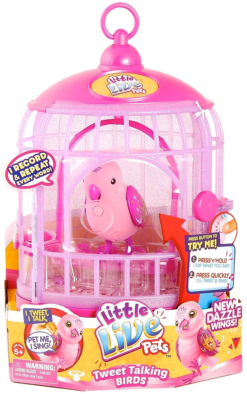 Little Live Pets Bird with Cage [Pink]: Amazon.es: Juguetes y juegos