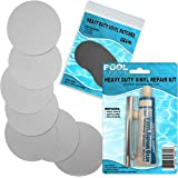 Pool Above Heavy Duty Vinyl Repair Patch Kit for Inflatables Boat Raft Kayak Air Beds