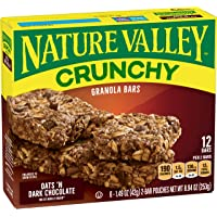 Nature Valley Granola Bars, Crunchy, Oats and Dark Chocolate, 6 Pouches, 8.94 Ounce