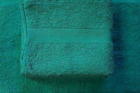 48 NEW BLUE SALON SPA GYM TOWELS DOBBY BORDER RINGSPUN 16X27 3LBS PREMIUM