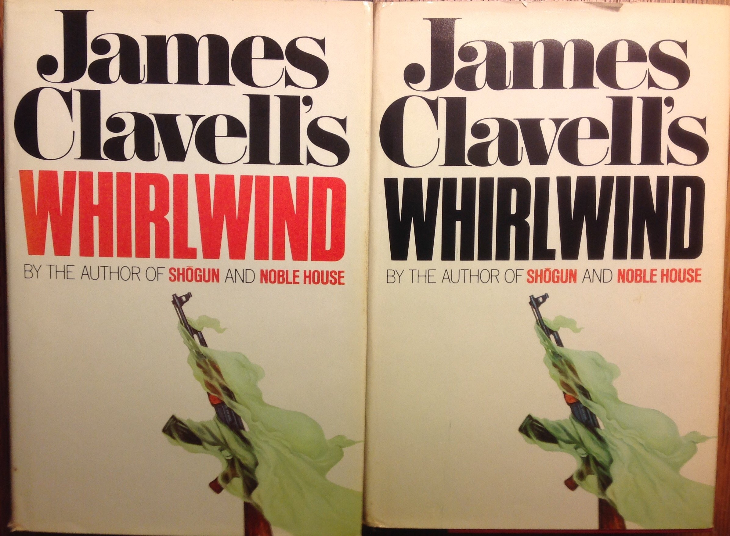 2 Books! 1) Whirlwind Volume 1 2) Whirlwind Volume 2, James Clavell