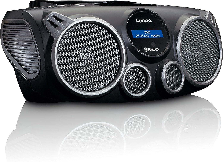 Lenco Tragbares Dab Fm Radio Scd 685bk Mit Cd Mp3 Player Bluetooth Usb Und Sd Spieler Schwarz Heimkino Tv Video